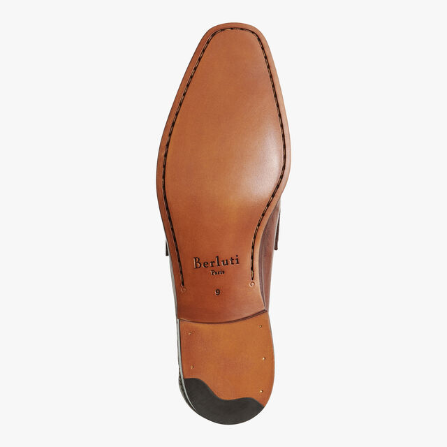 Lorenzo Rimini Kangaroo Leather Loafer, TABACCO, hi-res