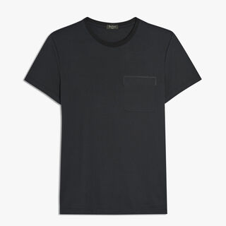 Cotton T-Shirt With Lamb Detail, NOIR, hi-res