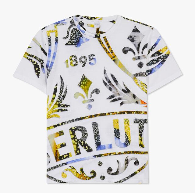 Printed Crest T-Shirt, BR 1 YELLOW, hi-res