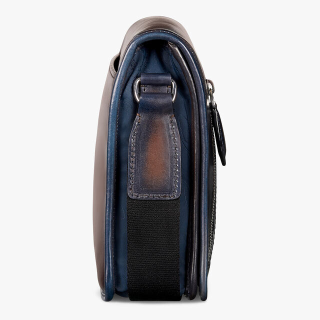 Luck-Day Nylon and Leather Scritto Messenger Bag