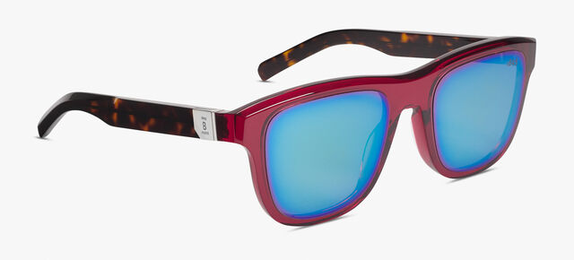 Pulsar Acetate Sunglasses , BURGUNDY+DEEP GREEN, hi-res