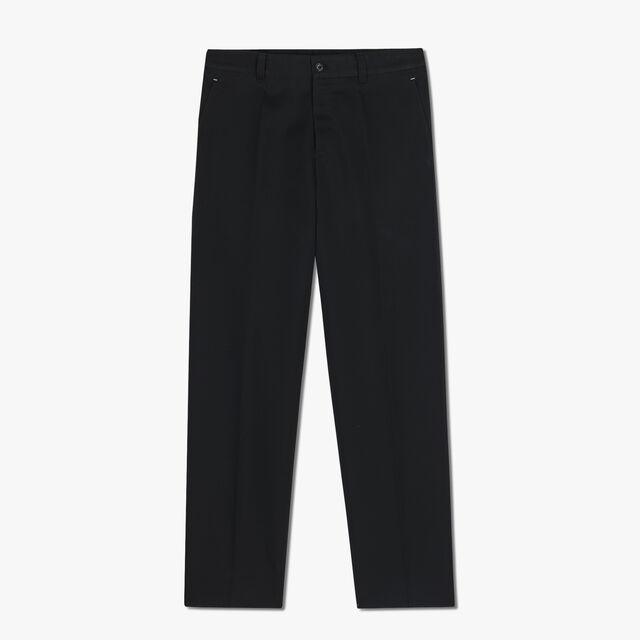 Wool Casual Trousers, NOIR, hi-res