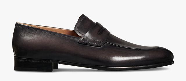 Gaspard Galet Calf Leather Loafer, DEEP BLACK, hi-res