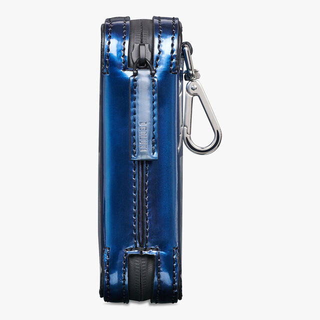 Pochette Monolithe Gulliver En Cuir, BLUE METAL, hi-res