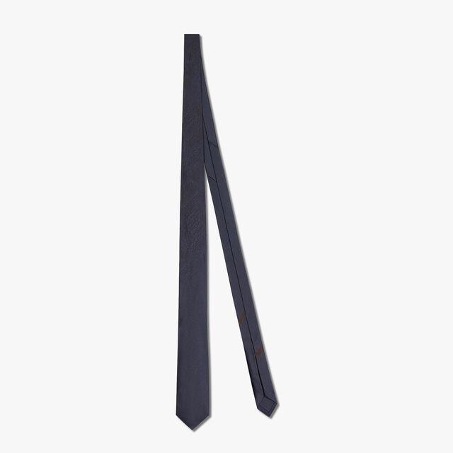6 cm Jacquard Scritto Silk Tie, PLEIADES BLUE, hi-res