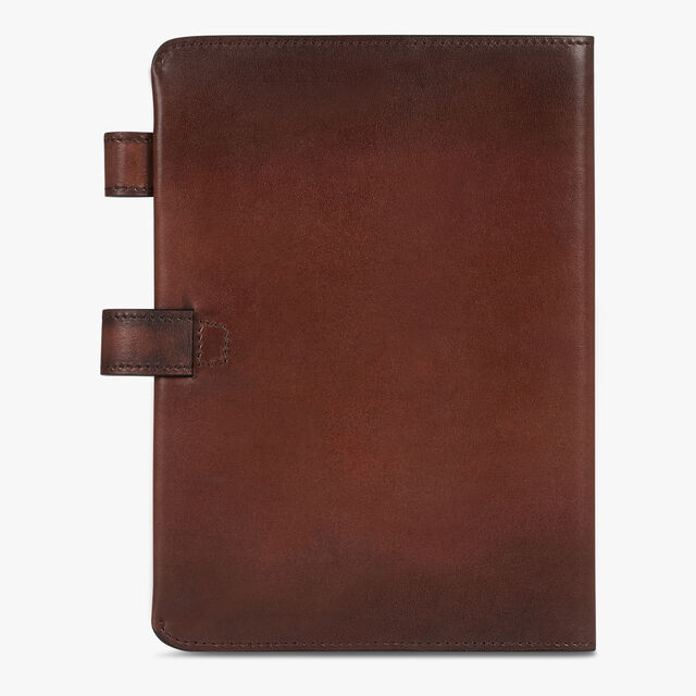 Epure Scritto Leather Agenda Cover, BRUN, hi-res