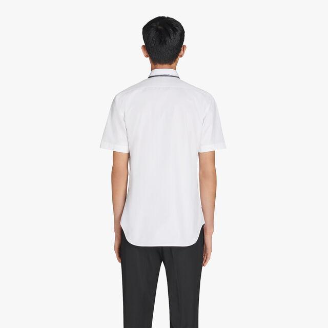 앤디 슬림 핏 반팔 프린트 코튼 셔츠, OPTICAL WHITE/LEAD, hi-res