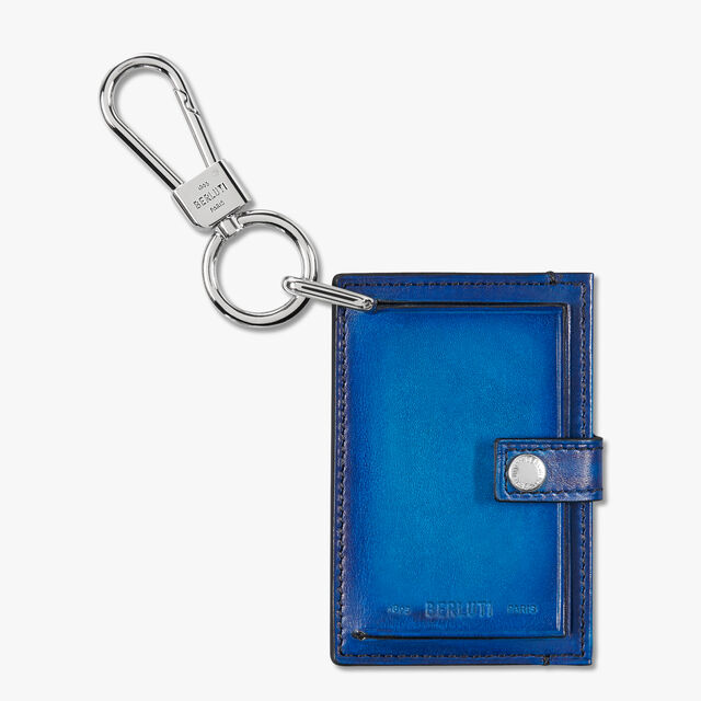Leather Bag Tag , DEEP SEA BLUE, hi-res