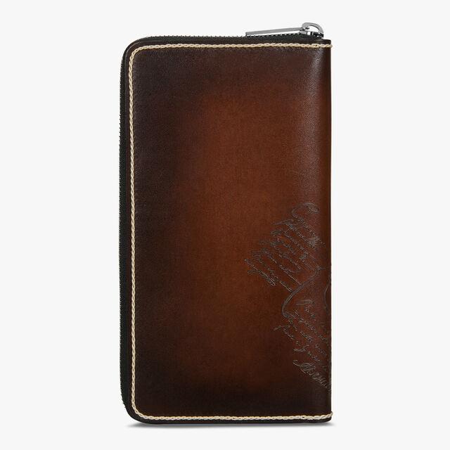 Itauba Scritto Swipe Leather Long Zipped Wallet, TDM INTENSO, hi-res