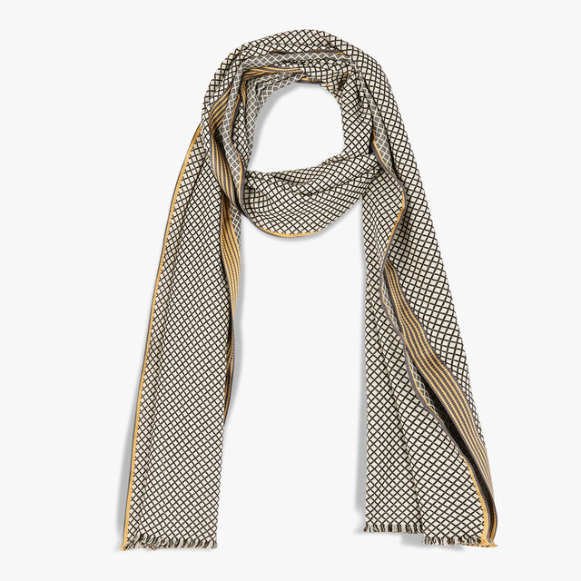 Wool & Silk Cashmere Scarf, WHIPPED CREAM, hi-res