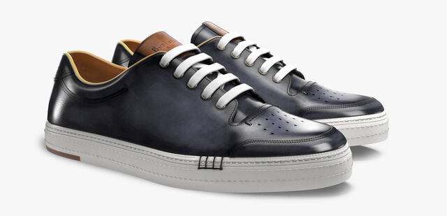 Playtime Palermo Calf Leather Sneaker, METEORITE, hi-res