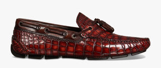 Saturnin Saint-Tropez Alligator Leather Loafer, TAMARINDO, hi-res