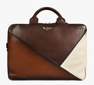 Cube Patchwork Calf Leather Travel Bag