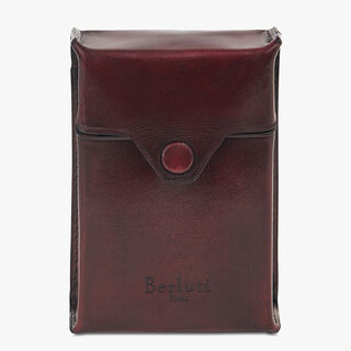 Calf Leather Cigarette Case, BLOOD SCURO, hi-res