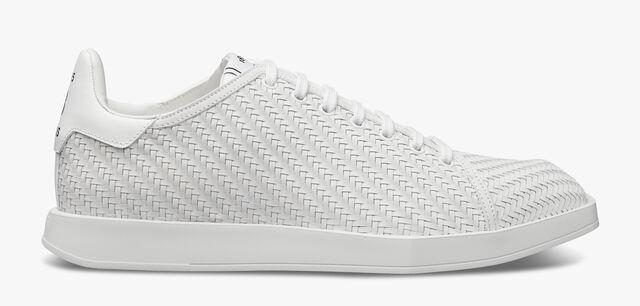 Stellar Braided Calf Sneaker , WHITE, hi-res