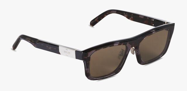 Neon 长方形醋酸纤维太阳眼镜, GREY HAVANA, hi-res