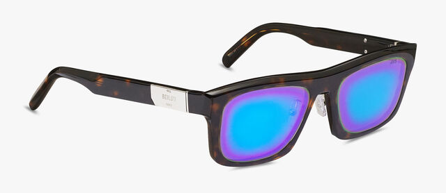 Neon Rectangular Shape Acetate Sunglasses, DARK HAVANA, hi-res