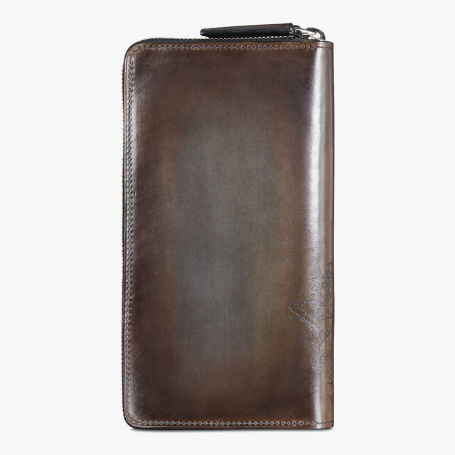 Itauba Jour Scritto Leather Long Zipped Wallet, ICE BROWN, hi-res
