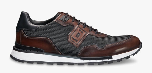 Sport Track Leather and Nylon Low-Cut Sneaker, BLACK+TDM INTENSO, hi-res