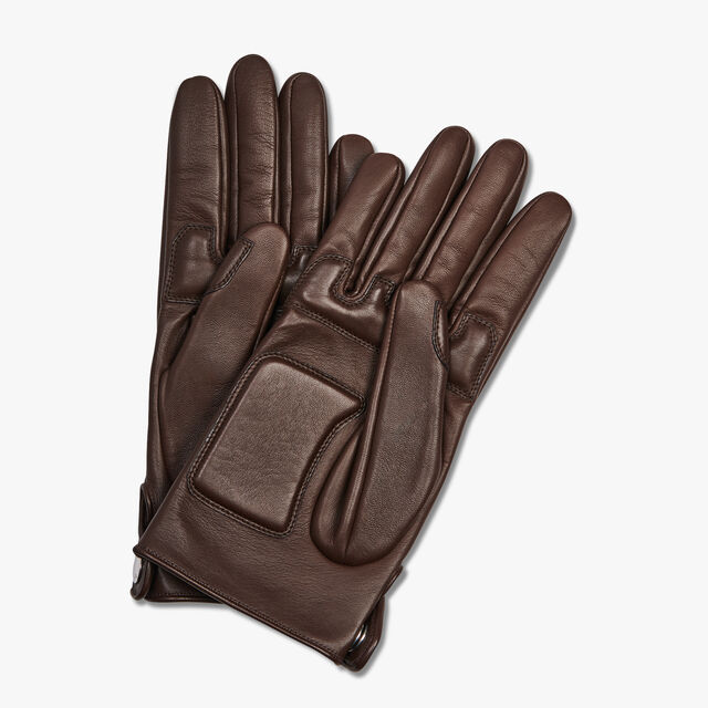 Lamb Leather Gloves, BRUN, hi-res