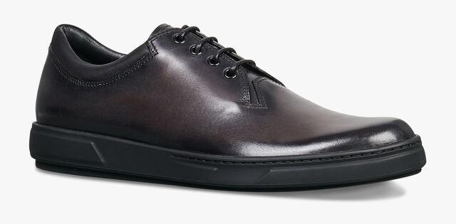 全新的Tibeta 小牛皮牛津鞋, DEEP BLACK, hi-res