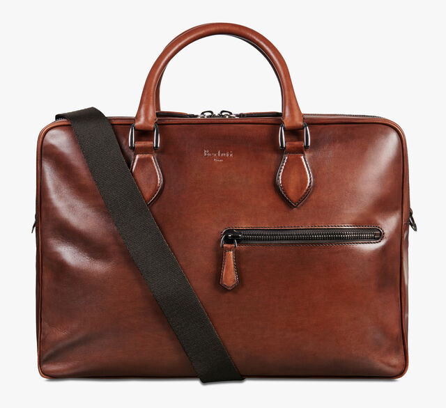 F088 Leather Briefcase, MOGANO, hi-res