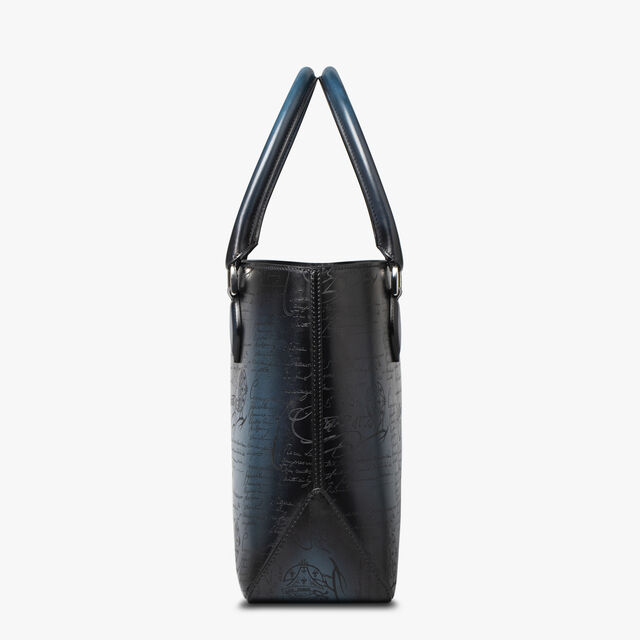 Toujours Scritto Leather Tote Bag, ALPINE GREEN, hi-res