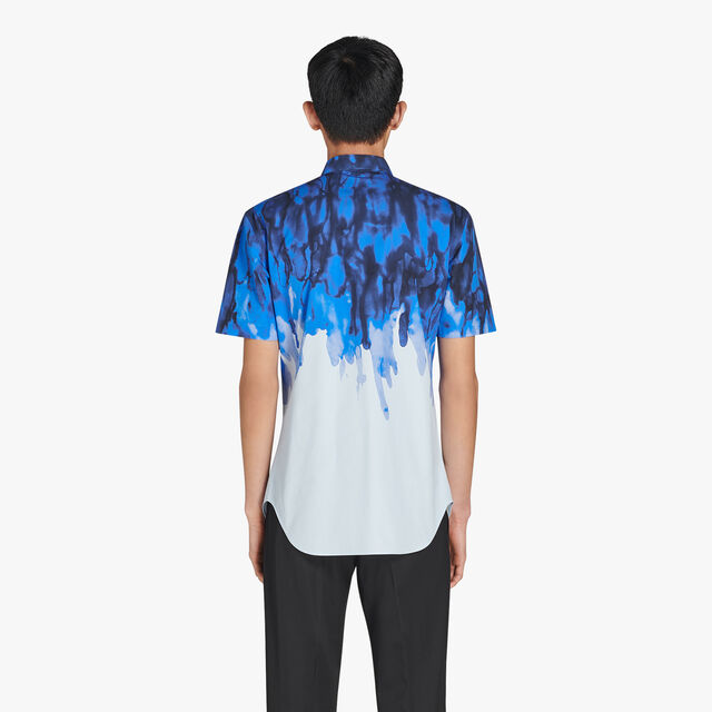 Andy Slim-Fit Short Sleeves Printed Cotton Shirt