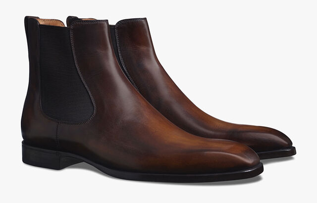Caractère Capri Leather Boot, TOBACCO BIS, hi-res