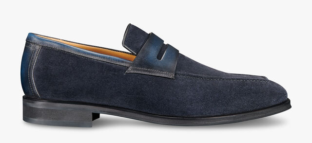 Andy Infini Suede Loafer, NAVY, hi-res