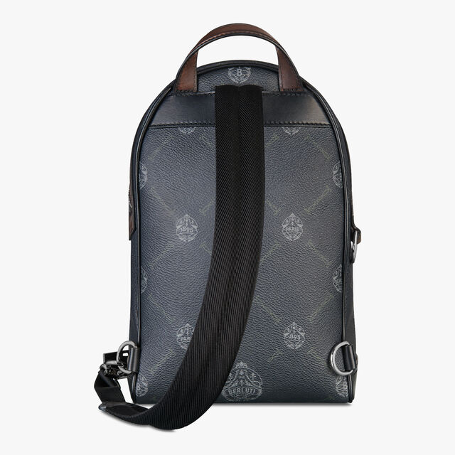 Explorer Small Canvas And Leather Backpack, BLACK+TDM INTENSO, hi-res