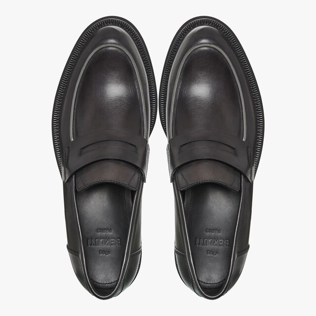 College Eclat Calf Leather Loafer, DEEP BLACK, hi-res