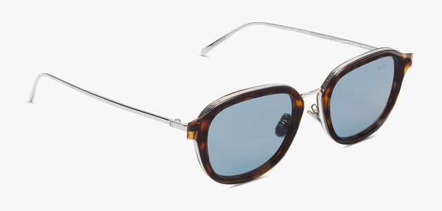Equinox Metal And Acetate Sunglasses  , HAVANA+SOLID SMOKE, hi-res
