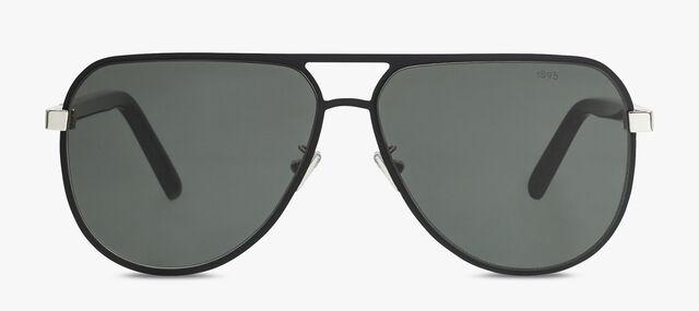 Bright 金属与醋酸纤维太阳眼镜, BLACK, hi-res