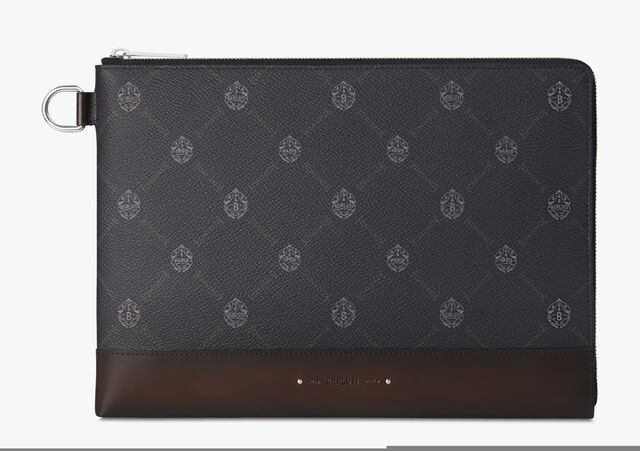 Nino Large Canvas Clutch , BLACK+TDM INTENSO, hi-res