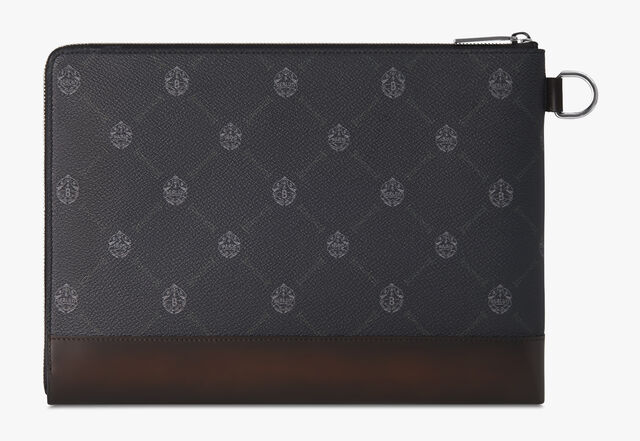Nino Large Canvas Clutch, BLACK+TDM INTENSO, hi-res
