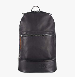 Velvet Leather Backpack, NERO, hi-res