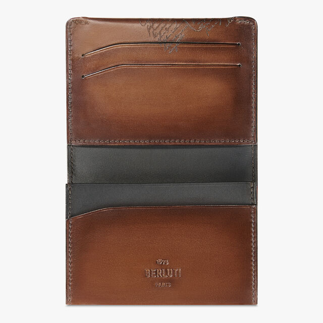 Vision Scritto Leather Card Holder, MOGANO, hi-res