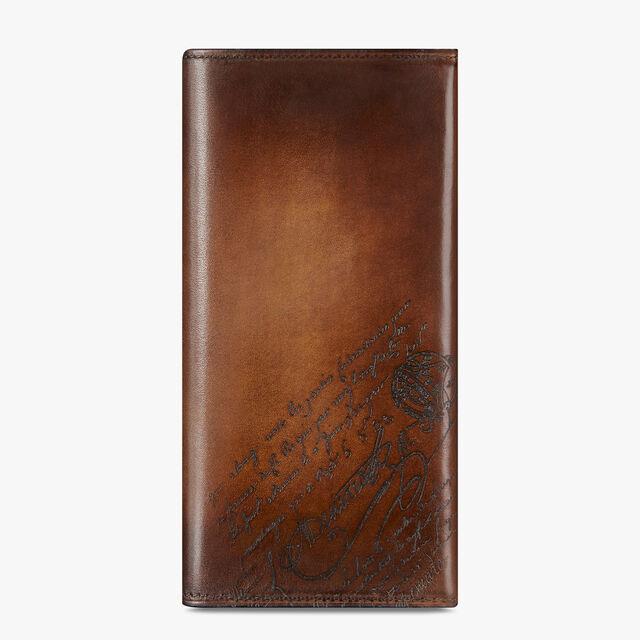 Espace Scritto Leather Long Wallet, MOGANO, hi-res