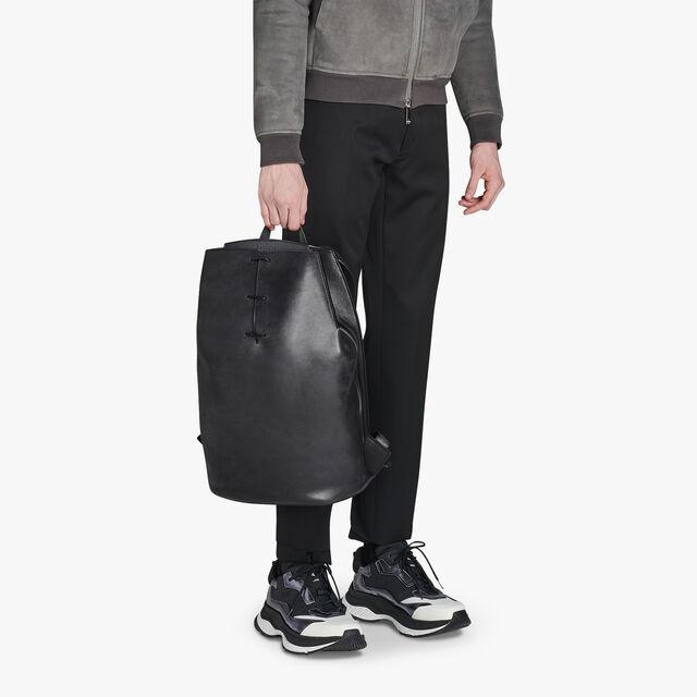 Alessandro Leather Backpack, NERO GRIGIO, hi-res