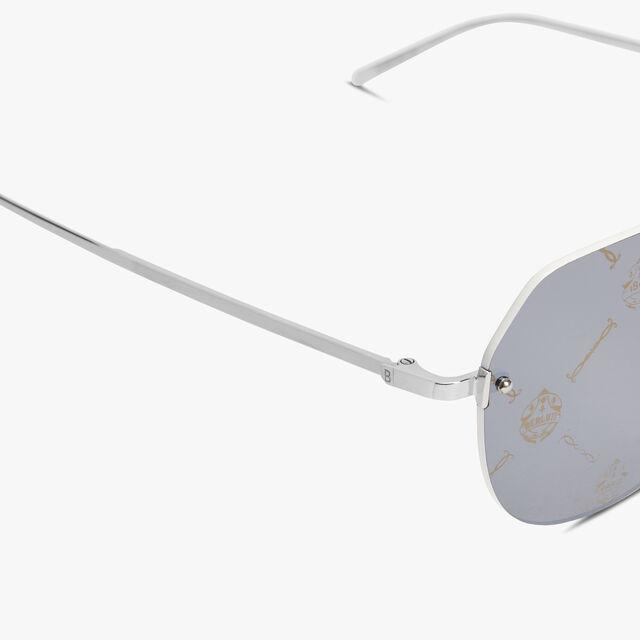 Lunar Rimless Sunglasses, MONOGRAM + WHITE, hi-res