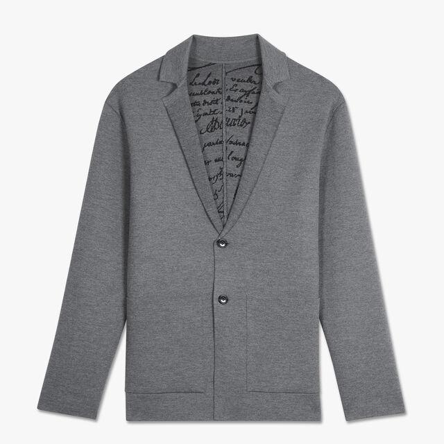 Jacquard Light Wool Jacket, PEWTER GREY, hi-res
