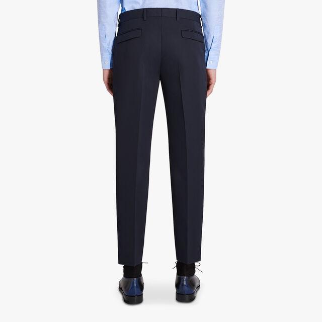 Slim-Fit Wool Gabardine Trousers, ULTRAMARINE, hi-res