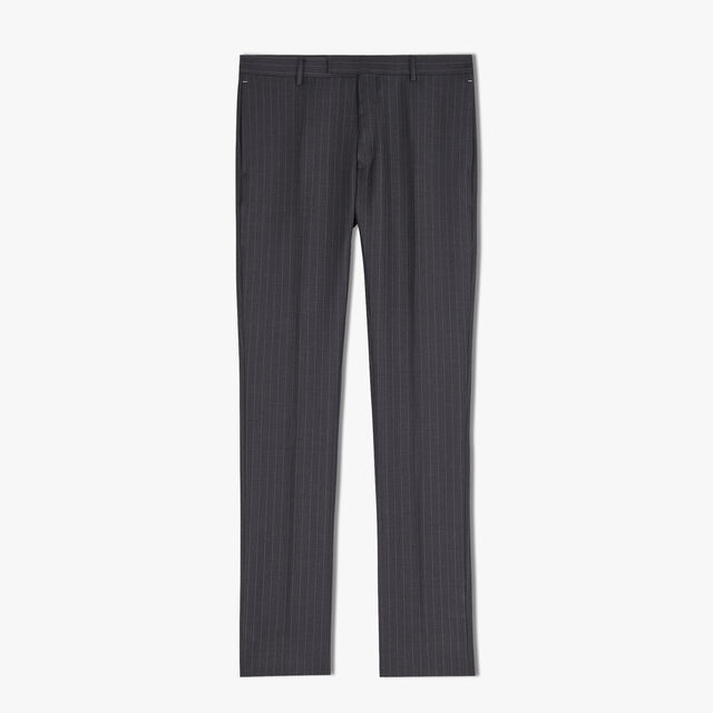 Pantalon Doublé Formel En Laine - Coupe Regular, FERRO/DARK LEAD, hi-res