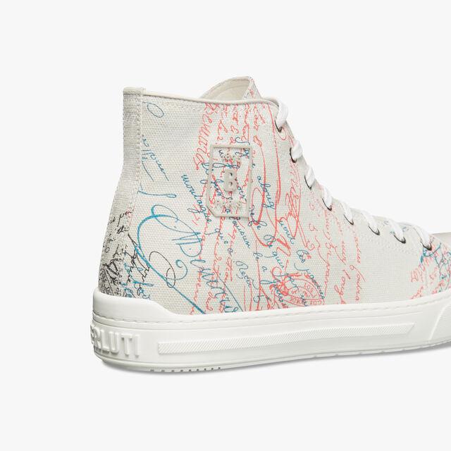 Playground Scritto Canvas High Cut Sneaker, GREY MULTICO, hi-res