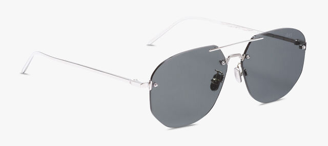 Comète Metal Sunglasses, SILVER+SOLID SMOKE, hi-res