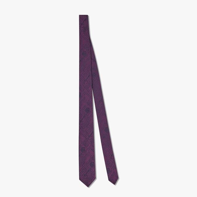 Cravate Scritto En Soie, MAGIC PURPLE, hi-res