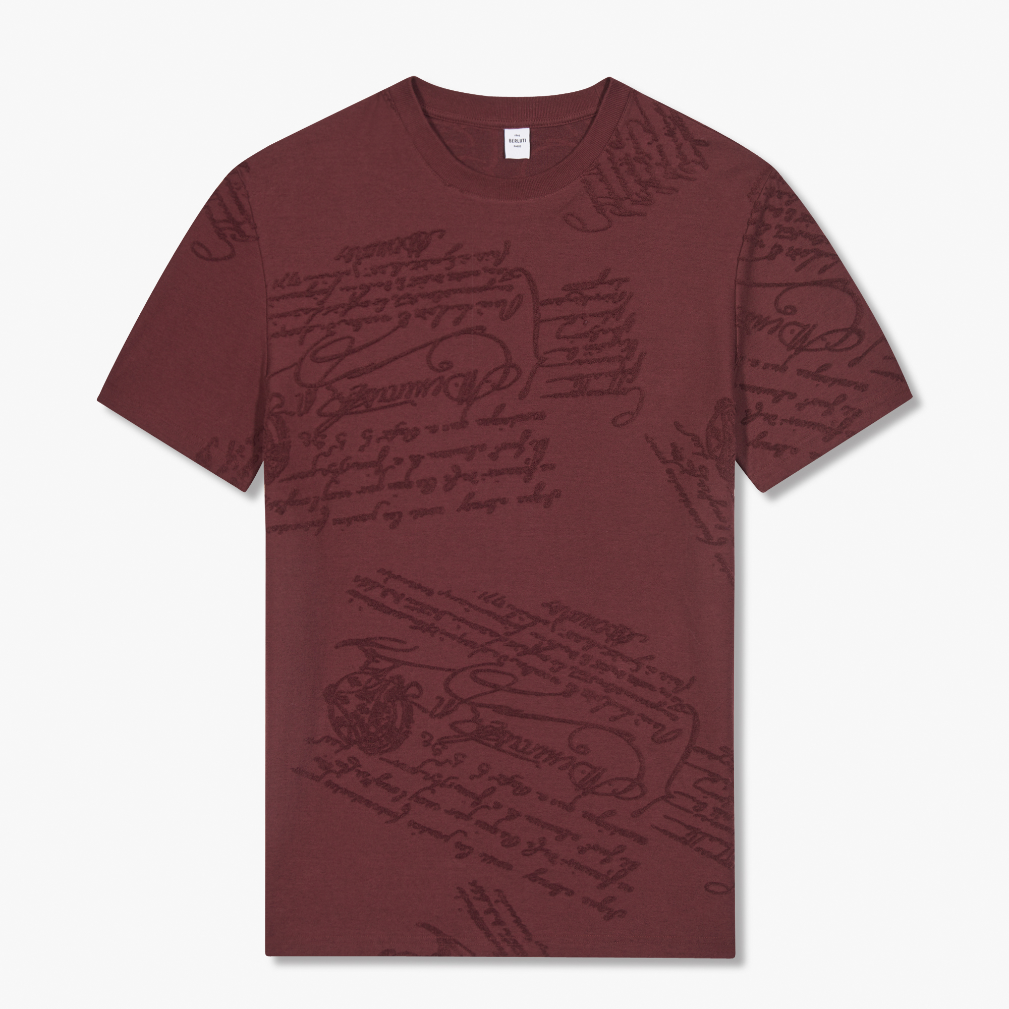 Terry Scritto T-shirt, BLACK CHERRY, hi-res
