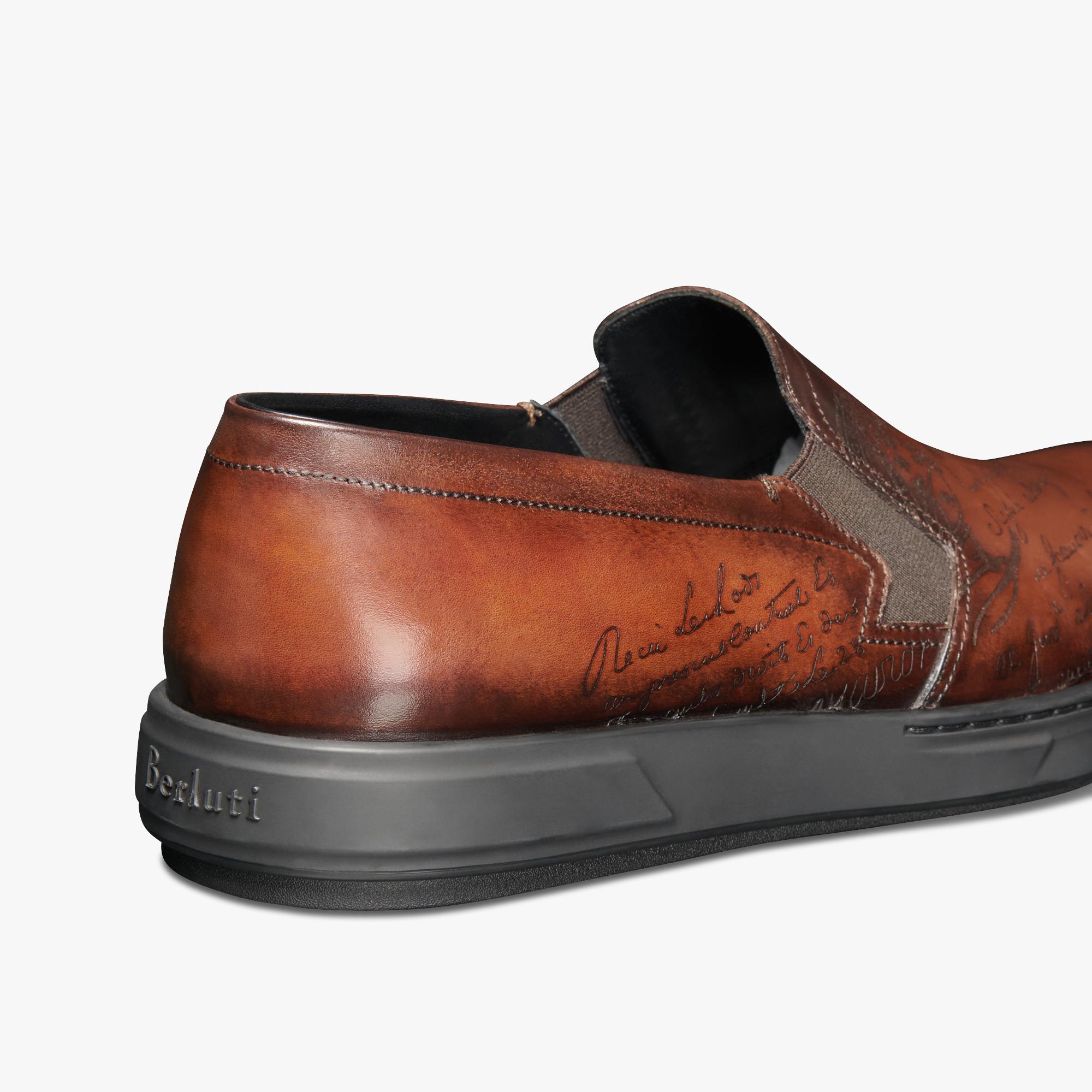 Tibeta Scritto Leather Slip On - Berluti