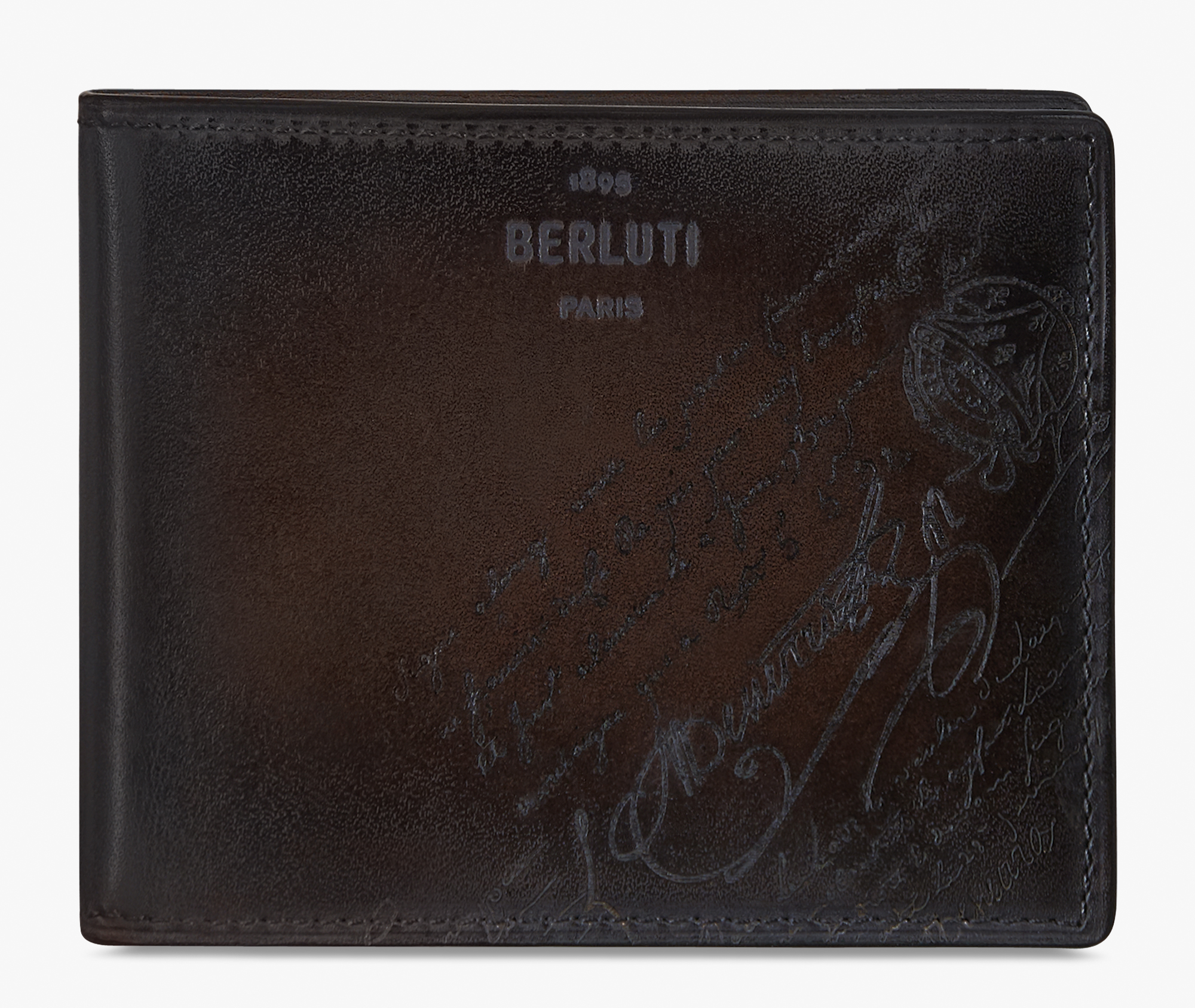 Makore Scritto Swipe Leather Wallet, ICE BLACK, hi-res
